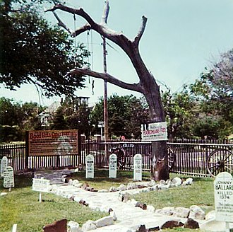 Hanging tree (United States) - Image: Hanging Tree at Dodge City (color print)