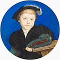 Hans Holbein the Younger - Henry Brandon, 2nd Duke of Suffolk (1535-51) - Google Art Project.jpg