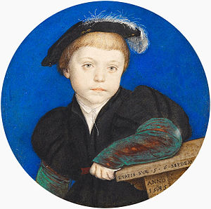 Henry Brandon, 2nd Duke of Suffolk - Henry Brandon, portrait miniature by Hans Holbein the Younger, 1541