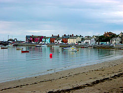 Brightly painted houses at Skerries harbour