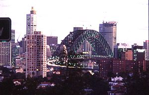 Sydney Into Its Third Century - Looking towards the Sydney central business district, 1988.