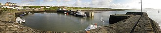 Liscannor - Panoramic view of Liscannor Harbour