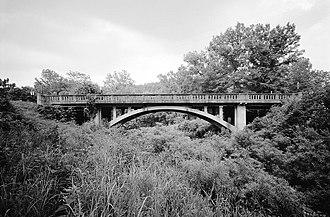 National Register of Historic Places listings in Newton County, Arkansas - Image: Harp Creek Bridge, Spans Harp Creek at State Highway 7, Harrison vicinity (Newton County, Arkansas)