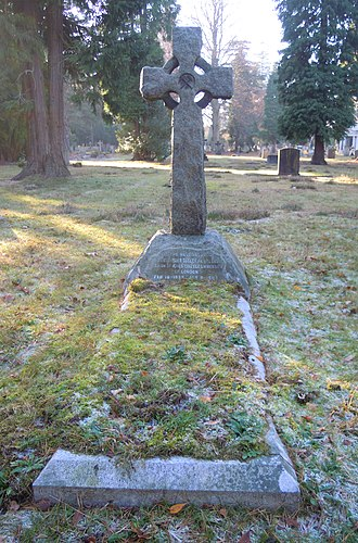 Harry Seeley - Seeley's grave in Brookwood Cemetery