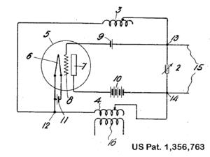 Hartley oscillator - Original patent drawing