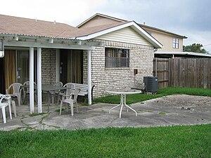 Backyard - Back yard of a house in Harvey, Louisiana, USA