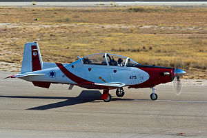 Israeli Air Force flight academy - T-6 Texan II basic trainer