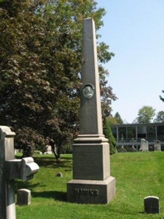 Francis L. Hawks - F.L. Hawks' grave at Christ Church, Greenwich