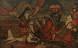 Battle of Khaybar - The Battle of Khaybar painting