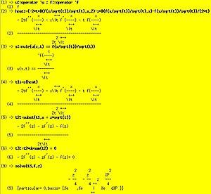 Axiom (computer algebra system) - Image: Heatequation