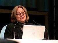Helen Fisher at LaWeb 2008 in Paris.jpg