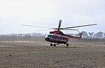 Helicopter Mi-8 RA-22862 PANH airlines landing in Takhtoyamsk helipad.jpg