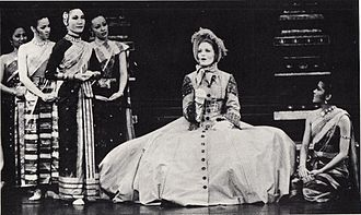 Constance Towers - Towers in a Broadway production of The King and I,  1977.