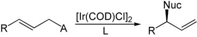 Reaktionsschema der Helmchen-Allylierung