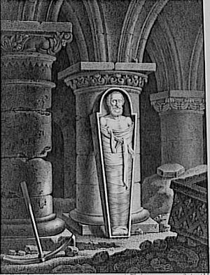 English: The coffin of Henri IV in Saint-Denis...