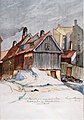 Henrik Backer - Det Christiania som forsvinder. Bakkegaten og Strandbakken i Piperviken - 1925 - Oslo Museum - OB.05872.jpg