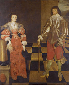 Henry Carey, 2nd earl of Monmouth (1596-1661) and his wife, circle of Gilbert Jackson.jpg