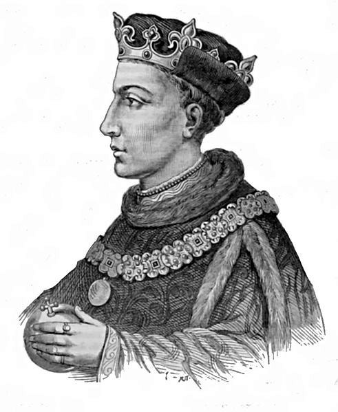 Henry V of England - Illustration from Cassell's History of England - Century Edition - published circa 1902