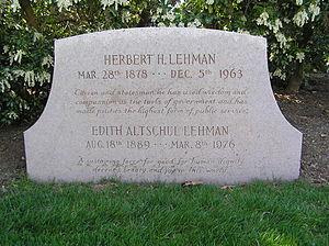 Herbert H. Lehman - The gravesite of Herbert H. Lehman