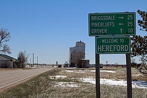 Hereford, Colorado - The welcome sign in Hereford.