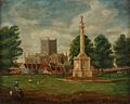 Hereford Museum and Art Gallery 6862 Anon Hereford Cathedral and Nelson Monument.jpg