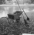 Herfst kruiwagen, schep, bezem en dode bladeren, Bestanddeelnr 913-0722.jpg