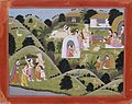 "Hermitage of Valmiki, Folio from the ""Nadaun"" Ramayana (Adventures of Rama) LACMA AC1999.127.45.jpg"