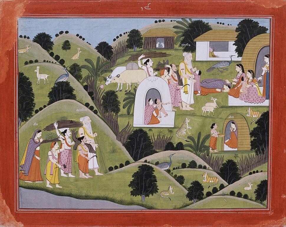 "Hermitage of Valmiki, Folio from the ""Nadaun"" Ramayana (Adventures of Rama) LACMA AC1999.127.45"