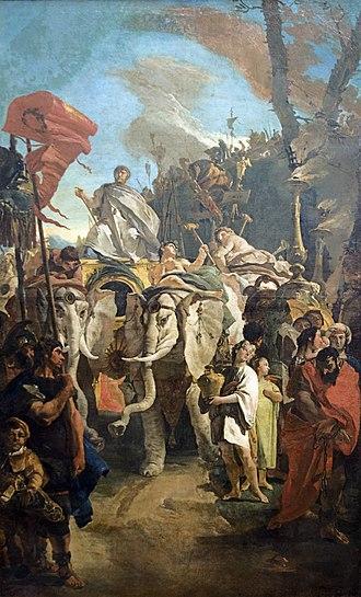 Ca' Dolfin Tiepolos - The Triumph of Manius Curius Dentatus (also known as The Tarantine Triumph), Hermitage, St Petersburg