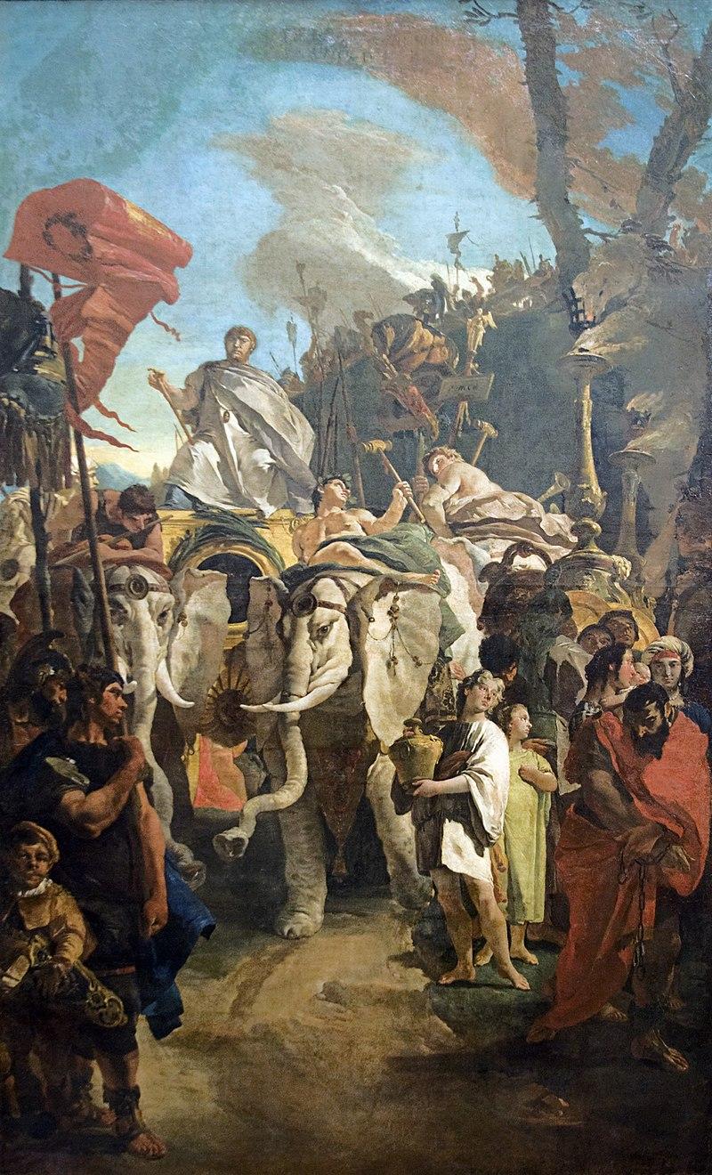 Giambattista Tiepolo - Il trionfo di Manio Curio Dentato