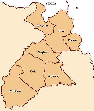 2005 Erbil bombing - Image: Hewler Provinz