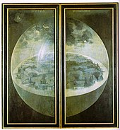 dbcd2e485ef1 Creation on the exterior shutters of Hieronymus Bosch s triptych The Garden  of Earthly Delights (1480–90)