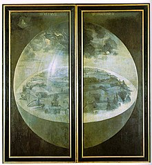 The exterior, when the triptych is closed