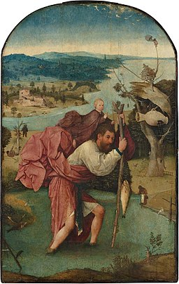 Hieronymus Bosch painting of St. Christopher