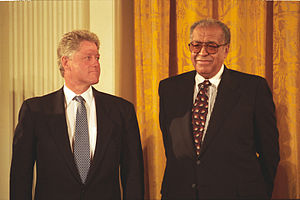 A. Leon Higginbotham Jr. - Higginbotham with Bill Clinton at a Medal of Freedom ceremony, 1995
