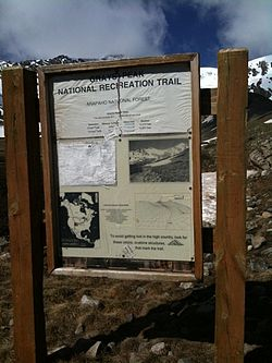 Hiking Grays Peak, National Recreation Trail sign.jpg