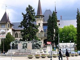 Bern Historical Museum - The Museum entrance on Helvetiaplatz