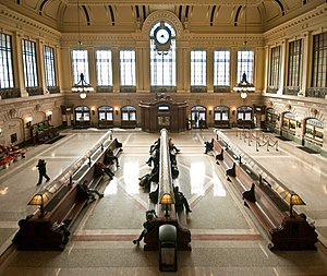 Hoboken Terminal - The renovated waiting room in 2009