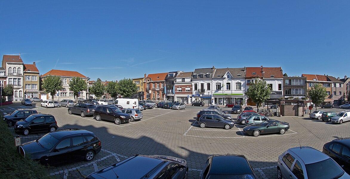 Gemeenteplein in Hoeilaart, België