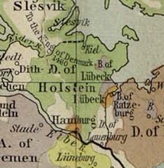 Holstein - Duchy of Holstein about 1477
