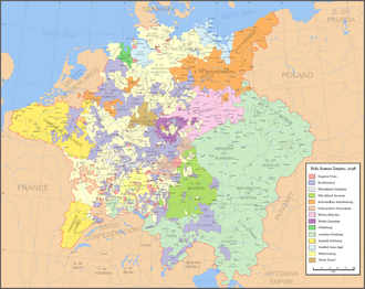 The Holy Roman Empire in 1648 Holy Roman Empire 1648.png