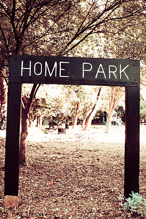 Home Park, Atlanta - Home Park sign