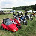 Honda CBR1000F fitted with a Beringer Orion sidecar.JPG