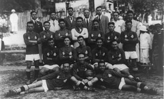 Football in Hong Kong - The Hong Kong football team in 1923 or 1924