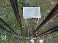 Honor Oak Park, plaque under the Oak of Honor - geograph.org.uk - 1331535.jpg