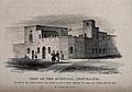 Hospital, Jerusalem, Israel. Lithograph by J.K. Colling afte Wellcome V0012777.jpg