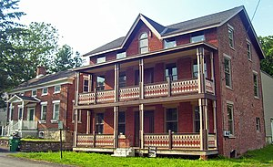 Poughkeepsie (town), New York - Houses in the Main Street Historic District