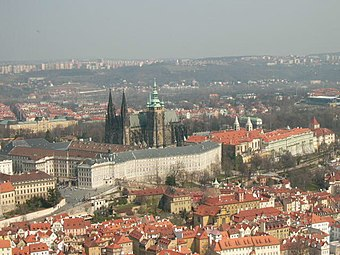 St. Vitus Cathedral. Entire cathedral is situated inside the Prague Castle complex