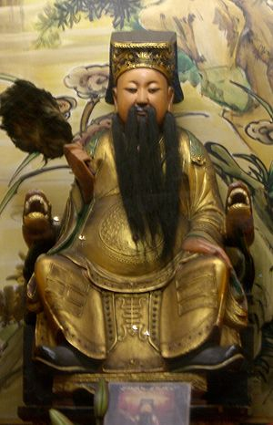 Statue of Hua Tuo (chinese doctor) at Longshan...