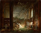 Hubert Robert (French - A Hermit Praying in the Ruins of a Roman Temple - Google Art Project.jpg